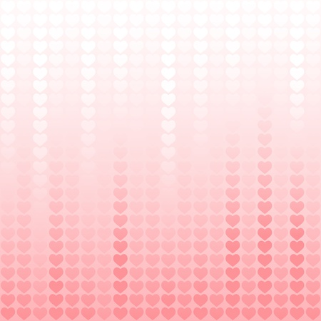Abstract valentine background with hearts - repetitive pattern Stock Vector - 17157736