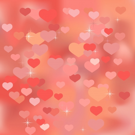 Abstract valentine background with hearts Stock Vector - 17157750