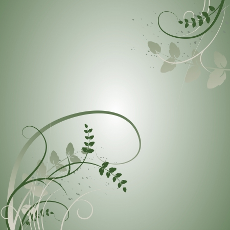 Floral background, meadow, garden - vector Vector