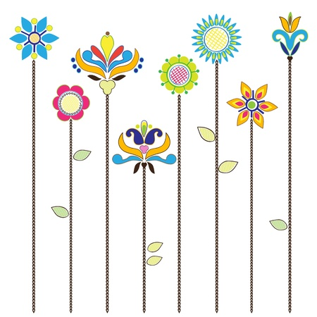 Floral background, blooming flowers - collection for designers Vector
