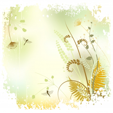 Floral background, meadow in summer time Vector