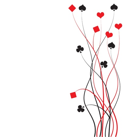 jack of hearts: poker, bridge - card game - illustration