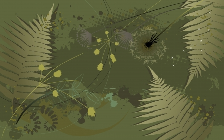 Floral background, dandelion - Desktop wallpaper Vector