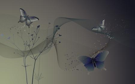 desktop wallpaper: Fondo de escritorio con mariposas