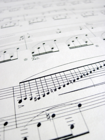 musical score: File for musical backgrounds, music notes