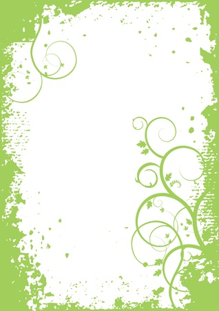 scroll shape: Abstract plants - background, banner Illustration
