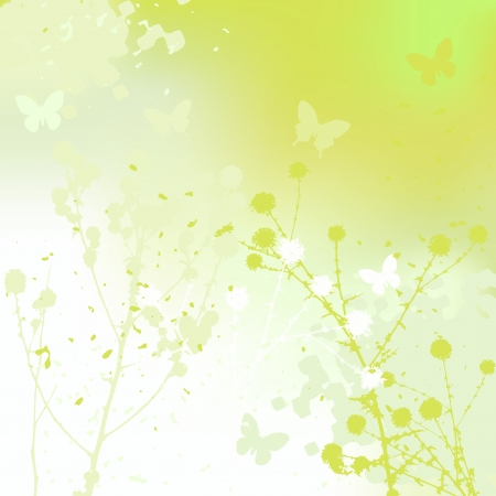 Floral background, dandelion  Meadow during summertime  Vector