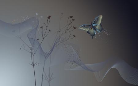 desktop wallpaper: Papel tapiz del escritorio - fondo con una mariposa - Gr�ficos Vectores