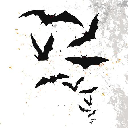 Halloween-Hintergrund mit Vollmond und Fledermäuse