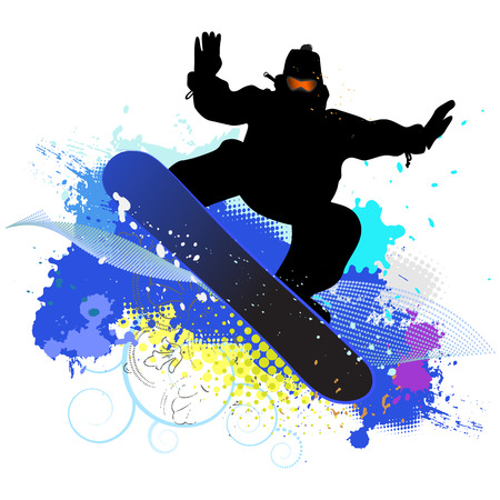 collection of snowboard, skiers