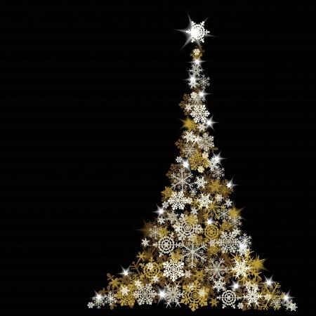 winter scenery: The Abstract Christmas Tree - vector illustration Illustration
