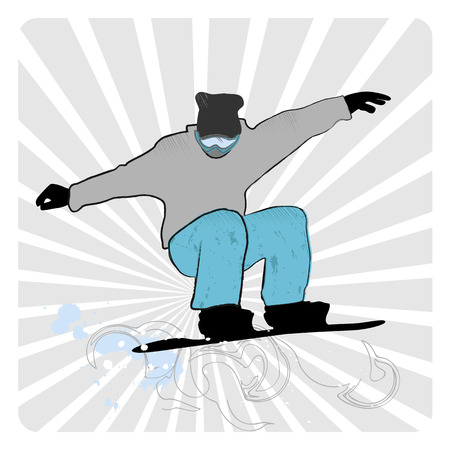 collection of snowboard, skiers Stock Vector - 23872805
