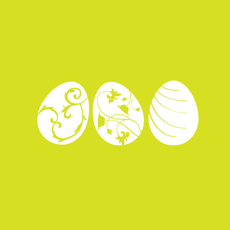 early spring: Colored Easter eggs, vector set Illustration