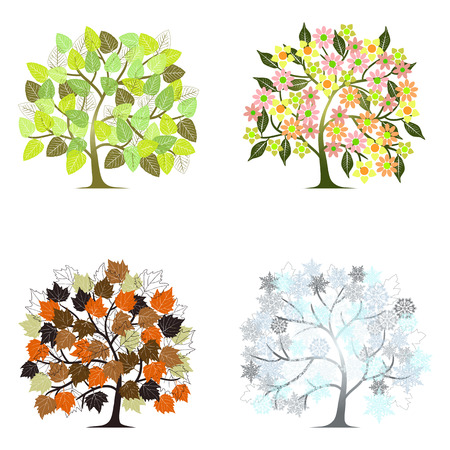 Abstract tree - graphic element Vector