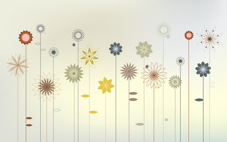 desktop wallpaper: Abstract wild flowers - Desktop wallpaper Illustration
