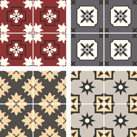 paving:  ceramic tiles with seamless pattern
