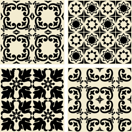 paving stones: Vector ceramic tiles with seamless pattern Illustration