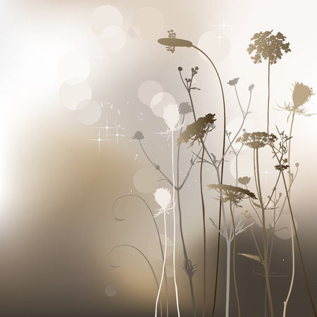 weeds: Floral background, weeds and thistle