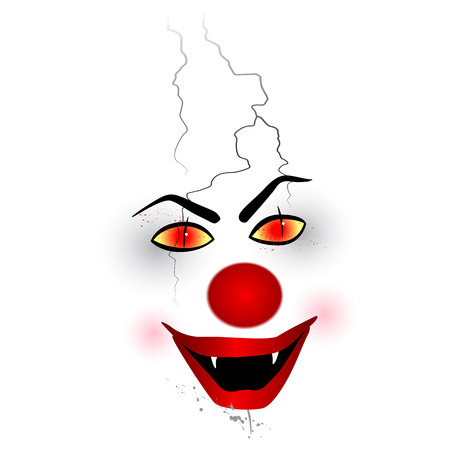 ful: Scary face Clown Stock Photo