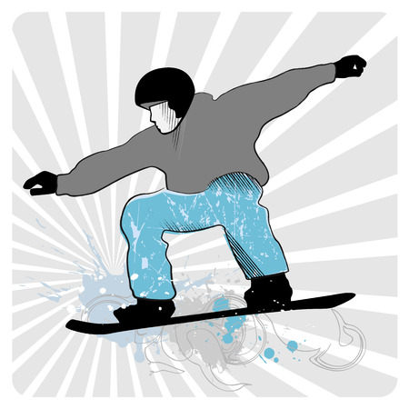 snowboarder: collection of snowboard, skiers