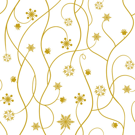 Saemless winter pattern, snowflakes - vector illustration