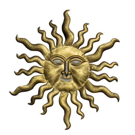 Sun Face  Isolated on white background.