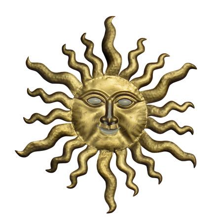 clave sol: Sun hace frente aislado en el fondo blanco.
