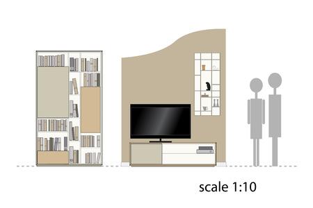 living room design: Furniture. Design living room. Interior furniture. Vector illustration