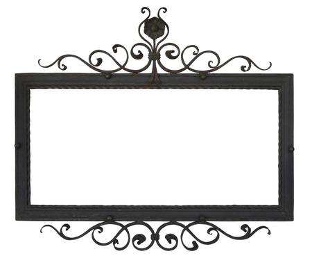 Metal teken aan de wand. Object geïsoleerd op wit, met clipping pad.