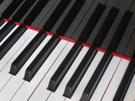pianoforte: Closeup of piano keys close frontal view Stock Photo