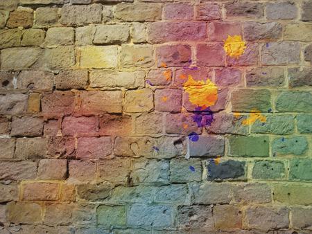 Graffiti: The graffiti brick wall