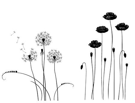 デザイナーは、野生植物のベクトル コレクション
