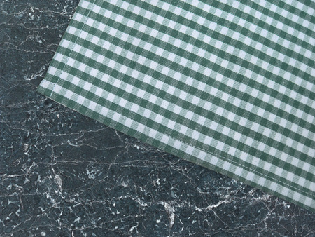 stone worktop: Tablecloth on a stone worktop