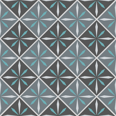 paving stone: Vector ceramic tile with seamless pattern Illustration