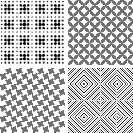 mana: seamless repeat pattern, abstract background - set Illustration