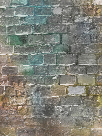 piso piedra: Antecedentes de la pared de ladrillo