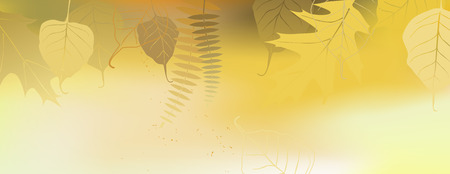 banner orizzontali: Autumn horizontal banner with a space for text