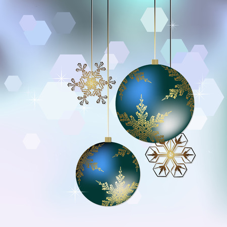 blue ball: Christmas decoration in blue