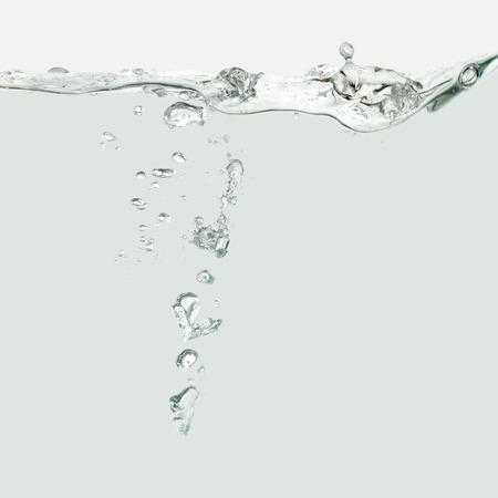 air bubbles: Water wave with air bubbles