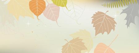 Bandera del otoño con un espacio para un texto - ilustración vectorial Ilustración de vector