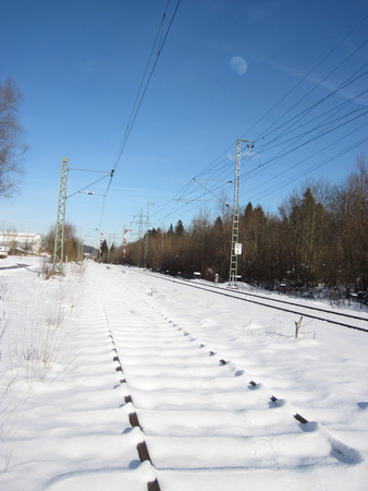 icy conditions: Railroad in winter. Germany