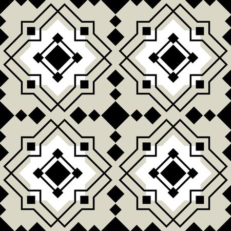 ceramica: Vector azulejos de cerámica con el patrón Vectores