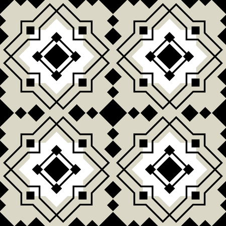 antic: Vector ceramic tiles with seamless pattern Illustration