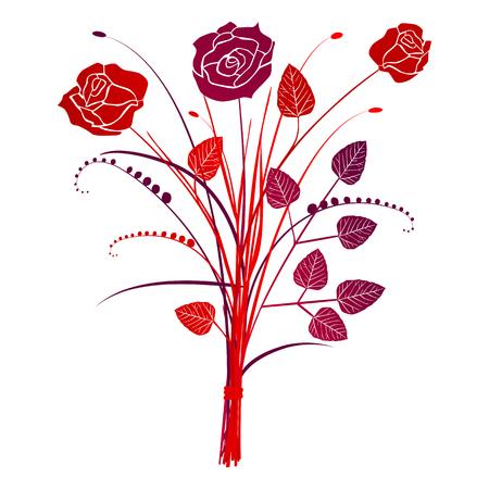 motif floral: Floral roses de fond, illustration vectorielle