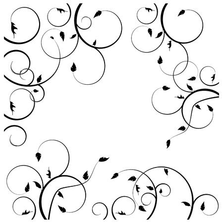 Colección para los diseñadores, pradera, plantas conjunto Ilustración de vector