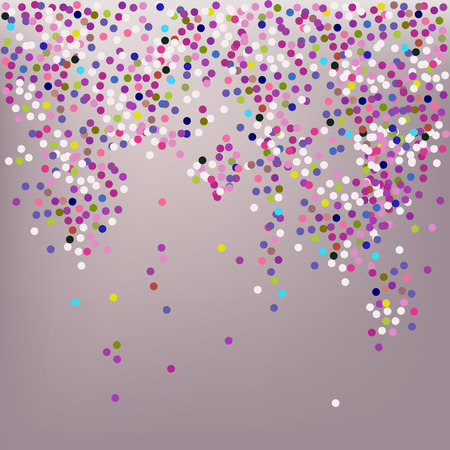 festive background: Confetti, New Years celebration - vector background