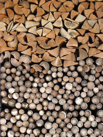 home related: Pile of logs.  Background Home related