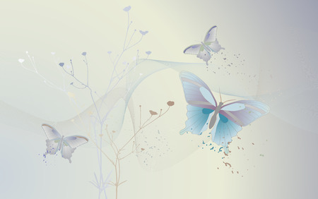 desktop wallpaper: Desktop wallpaper - background with butterflies Illustration