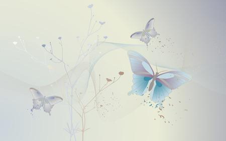 sfondo del desktop - sfondo con farfalle