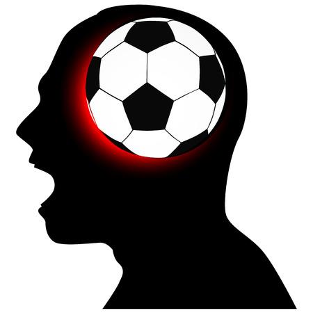 sports fan: sports fan, emotions, expressions, feelings Illustration